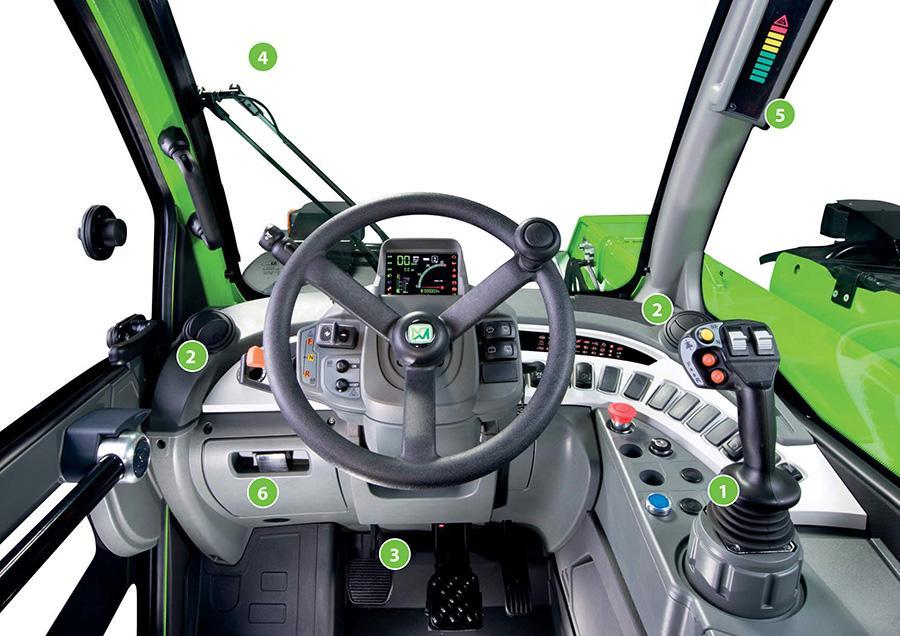 Merlo Turbofarmer 33.7, 33.9 ja 35.7 ohjaamo