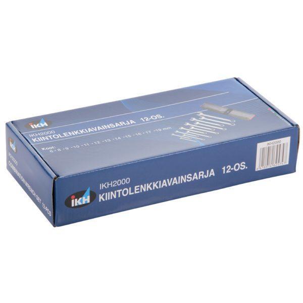 Kiintolenkkiavainsarja 12 osaa 6-19 mm IKH2000