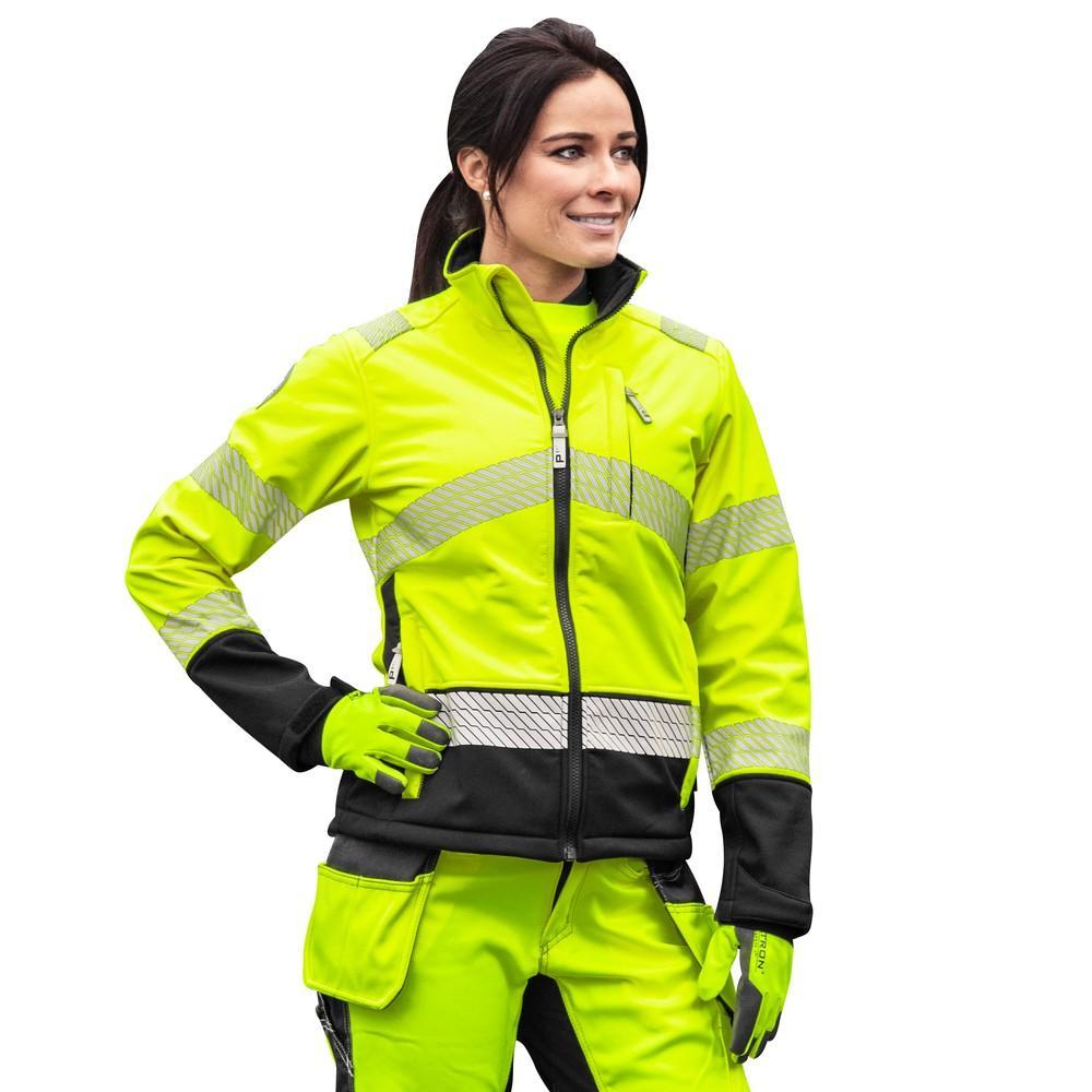 Patron Danica naisten keltainen softshell takki