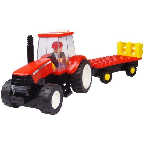 Case IH traktori ja kärry palikkarakennussarja