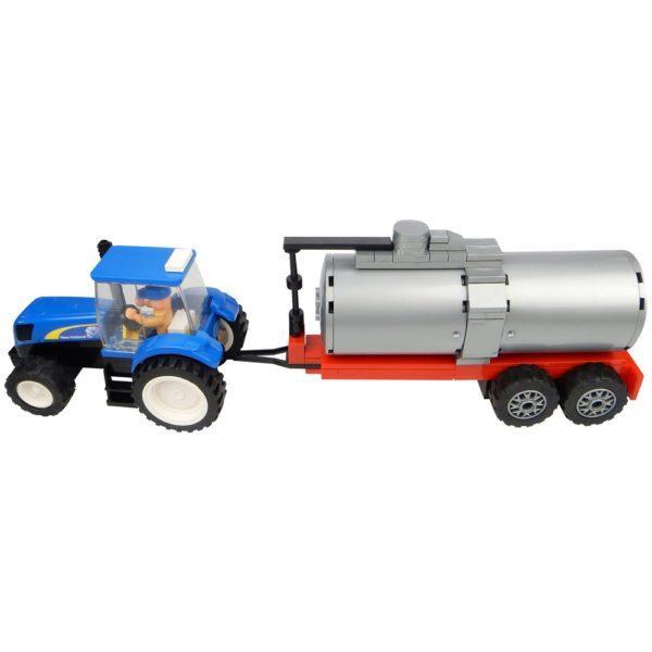 New Holland traktori ja säiliökärry palikkarakennussarja