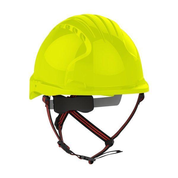 JSP Evo 5 Dualswitch Hi-Vis keltainen suojakypärä