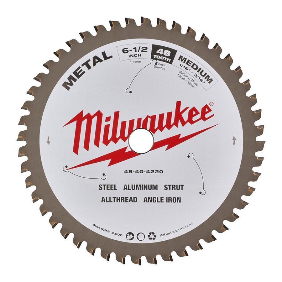 """Milwaukee pyöräsahanterä CSB P M 165 x 5/8"""" x 48T metallille"""