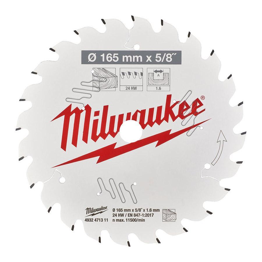 "Milwaukee CSB P W 165 x 5/8"" x 1,6 x 24ATB pyörösahanterä"