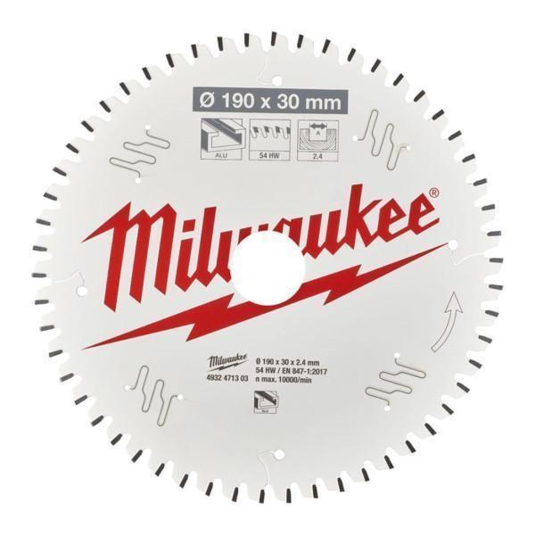 Milwaukee pyörösahanterä A 190 x 30 x 2,4 x 54