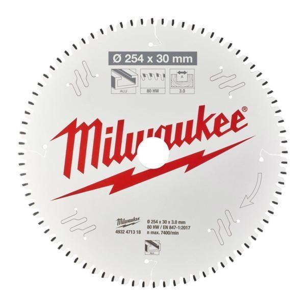 Milwaukee pyörösahanterä MS ALU 254 x 30 x 3,0 x 80 TF NEG