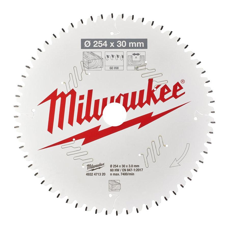 Milwaukee pyörösahanterä CSB MS W 254 x 30 x 3,0 x 60ATB