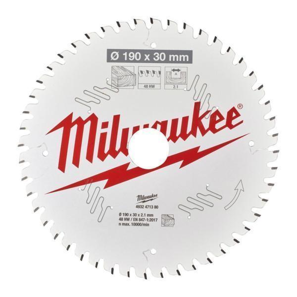Milwaukee pyörösahanterä CSB P W 190 x 30 x 2,1 x 48ATB