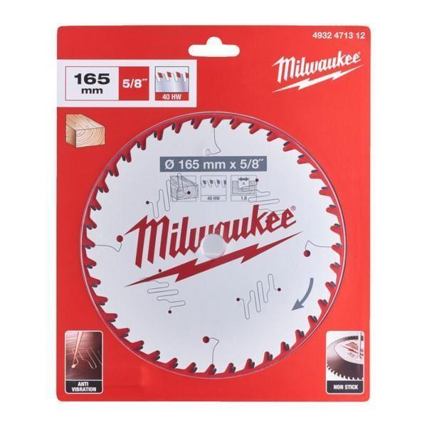 Milwaukee pyörösahanterä W165 x 15.87 x 1.6 x 40