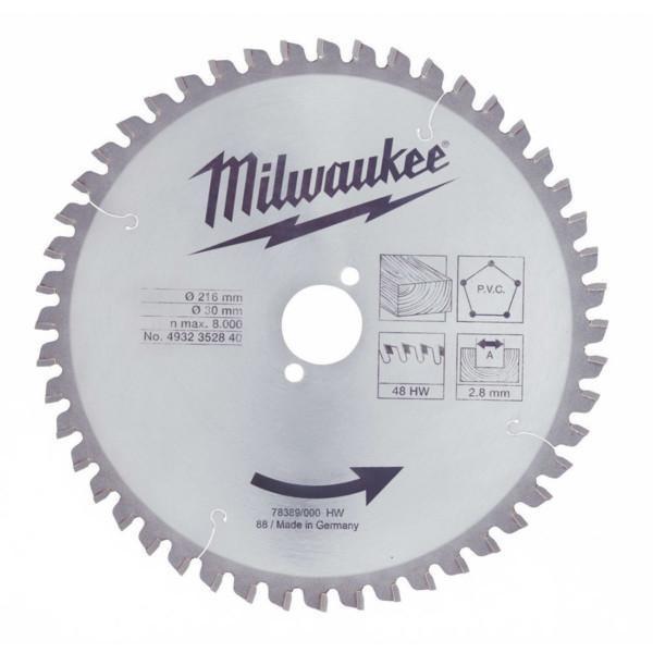 Milwaukee WCSB 250 x 30 mm 24T pyörösahanterä