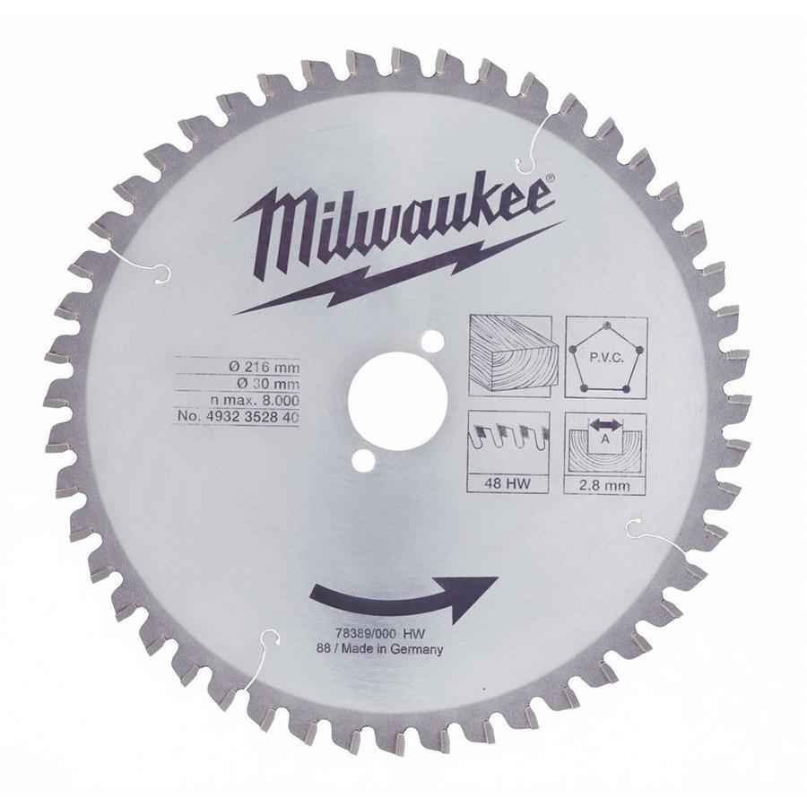 Milwaukee WCSB 250 x 30 mm 24T pyörösahanterä