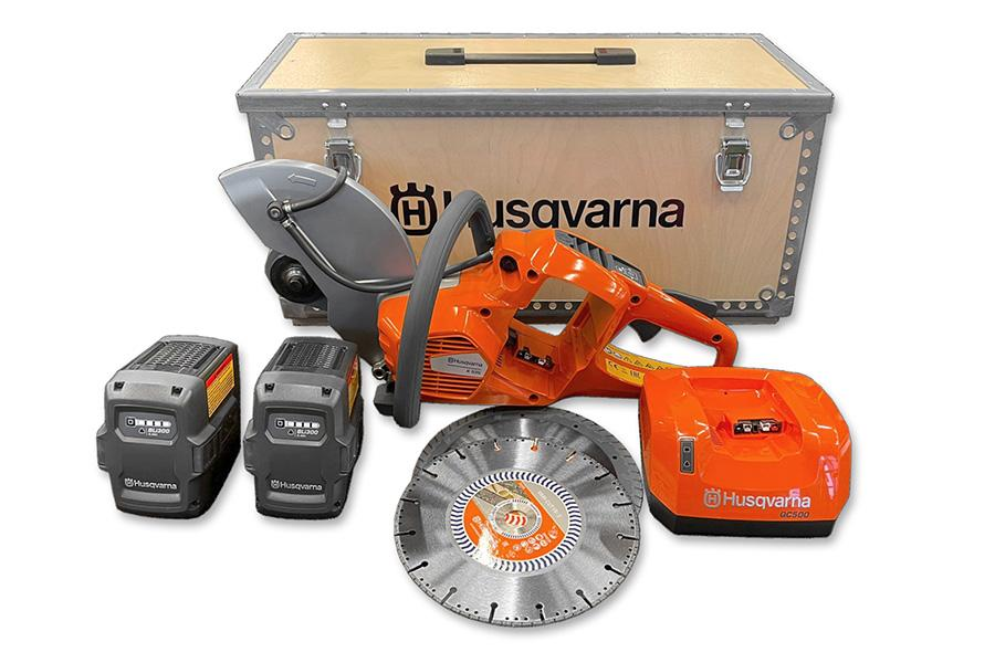Husqvarna K 535i akkulaikkaleikkuri paketti